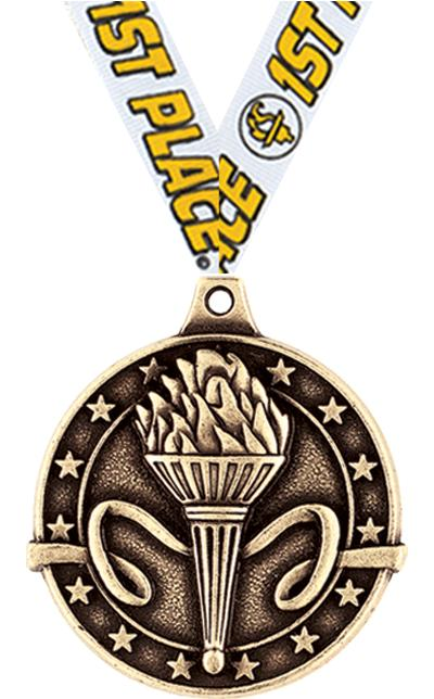 "1 3/4"" Torch Medals"