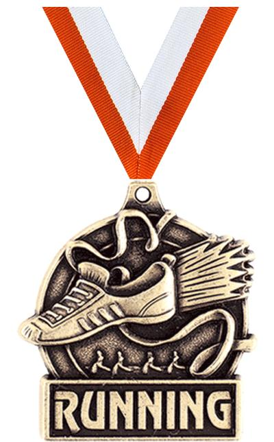 """1 3/4"""" WINGED FOOT MEDAL GOLD"""