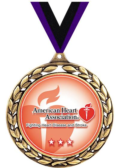 """2.5"""" WREATH CHARITY MEDAL GOLD"""
