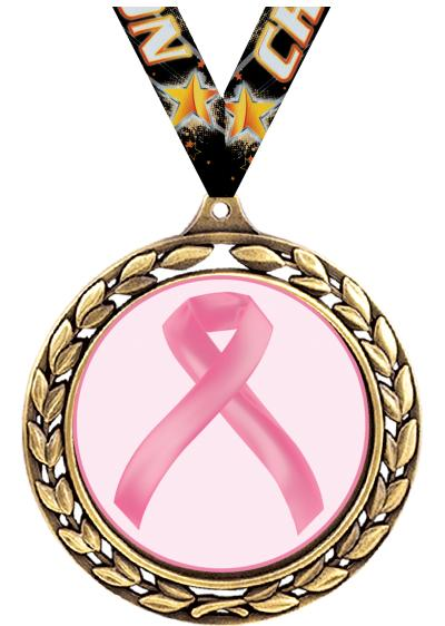 "2.5"" WREATH CHARITY MEDAL GOLD"