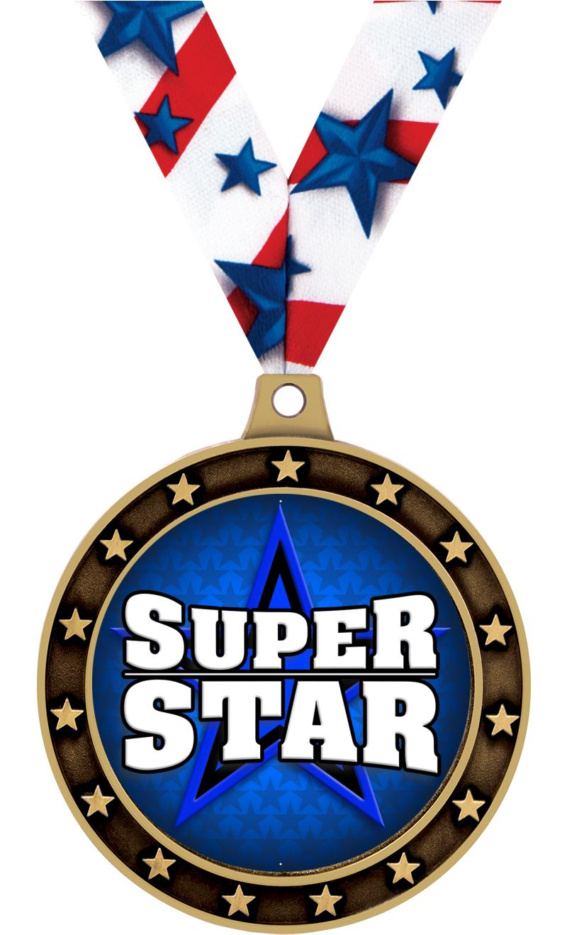 "2 1/2"" Universe Star Medal"