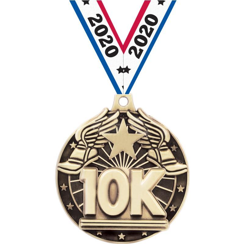 """2"""" 3D 10K MEDAL GOLD"""