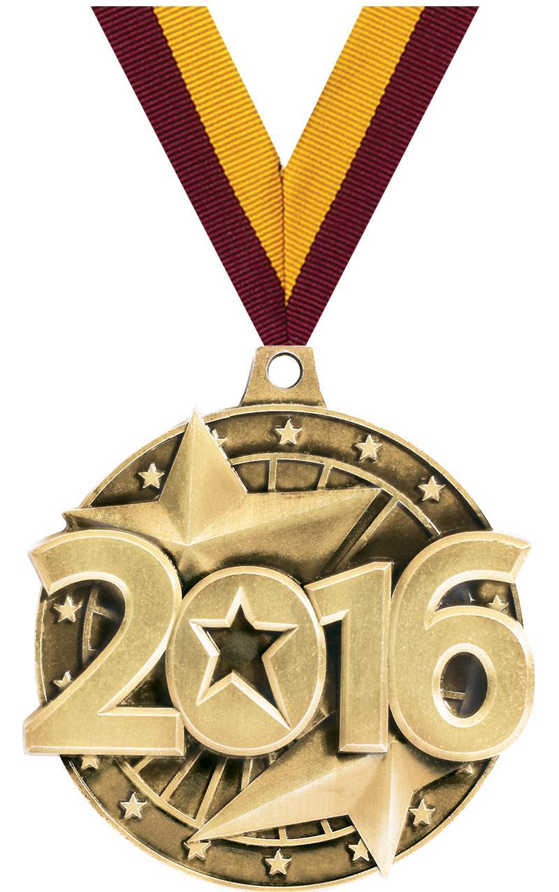 """2"""" 3D 2016 GOLD MEDAL"""