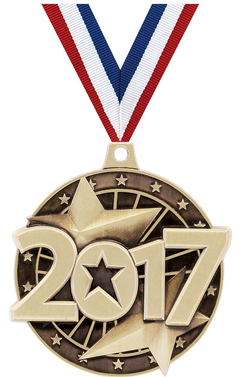 """2"""" 3D 2017 GOLD MEDAL"""