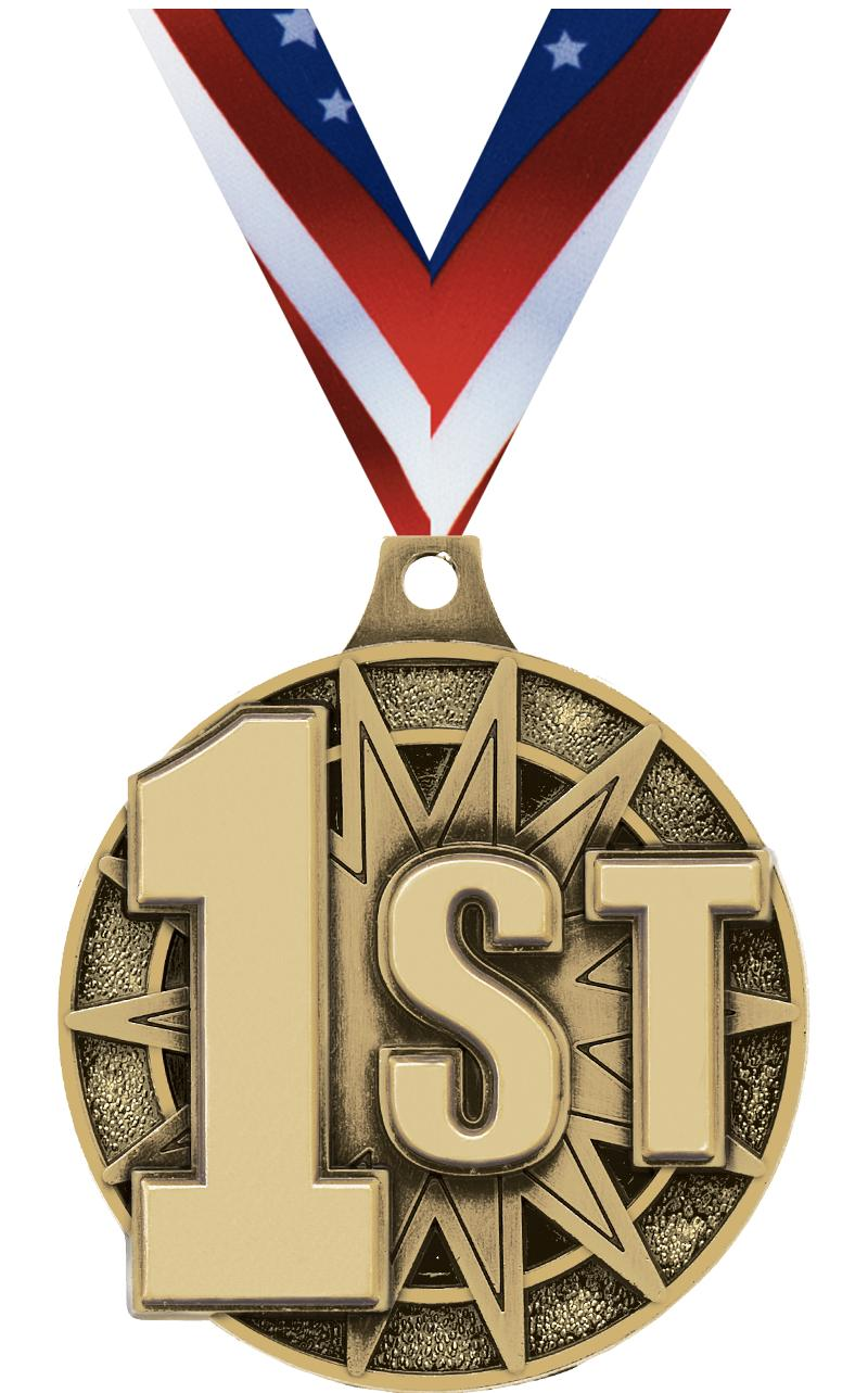 """2"""" 1st Place Medal"""