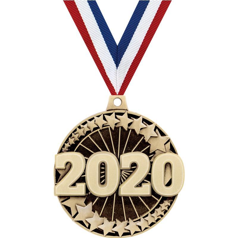 """2"""" 3D 2020 MEDAL GOLD"""