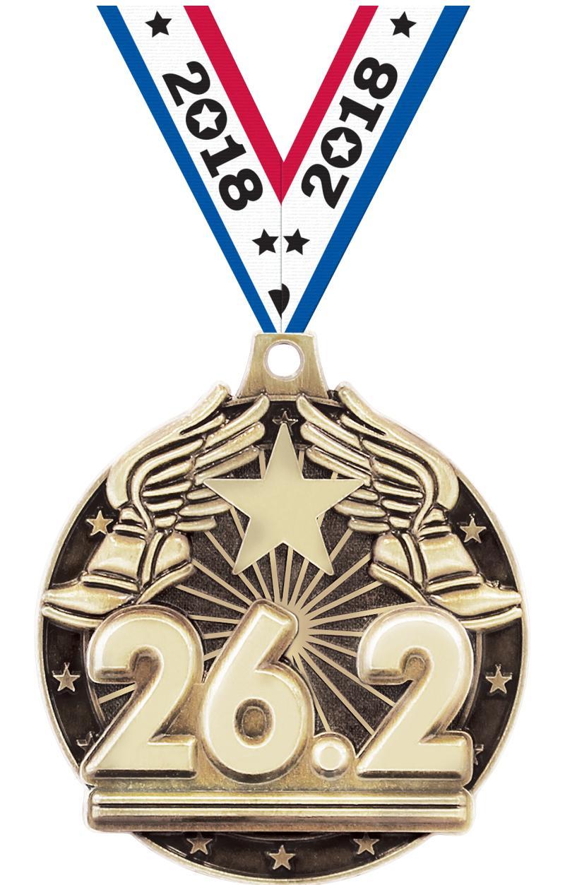 "2"" 26.2 MILE GOLD"