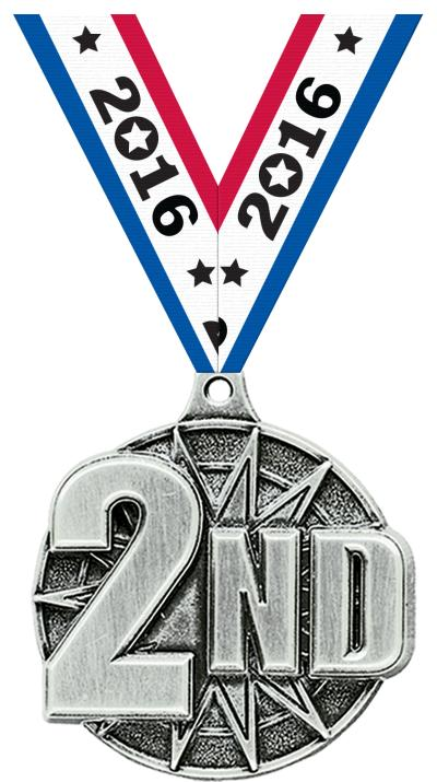 "2"" 2nd Place Medal"