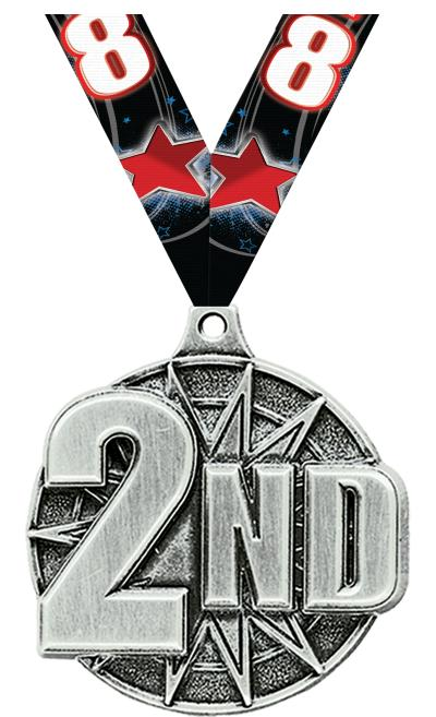 """2"""" 2nd Place Medal"""