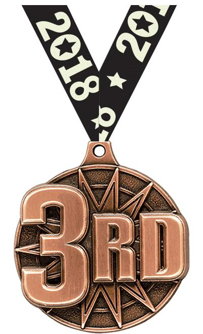 """2"""" 3rd Place Medal"""