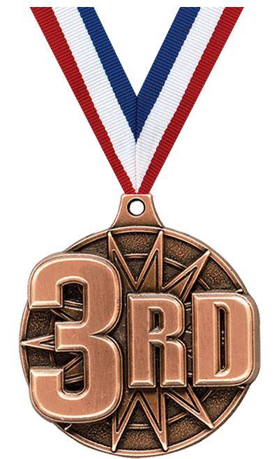 "2"" 3D 3RD PLACE MEDAL BRONZE"