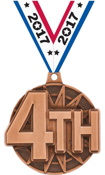 "2"" 4th Place Medal"