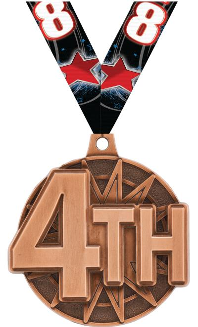 """2"""" 4th Place Medal"""