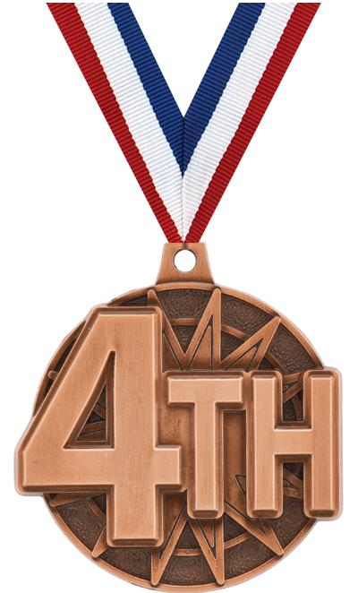"2"" 3D 4TH PLACE BRONZE"