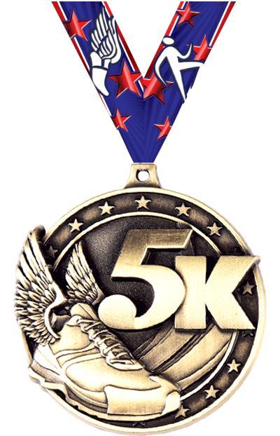 """2"""" 5K Medal"""