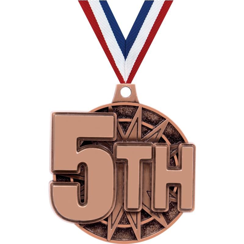 "2"" 3D 5TH PLACE MEDAL BRONZE"