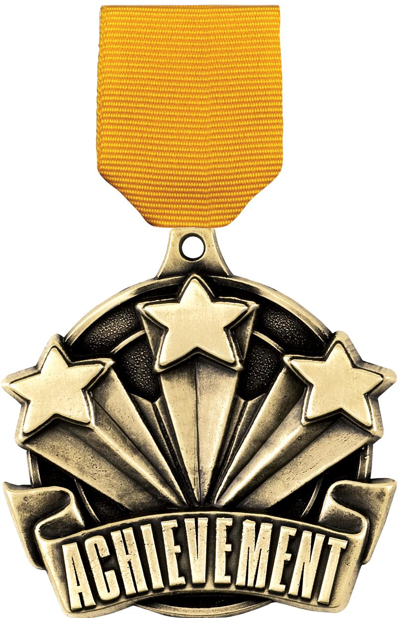 "2"" 3D ACHIEVEMENT MEDAL GOLD"