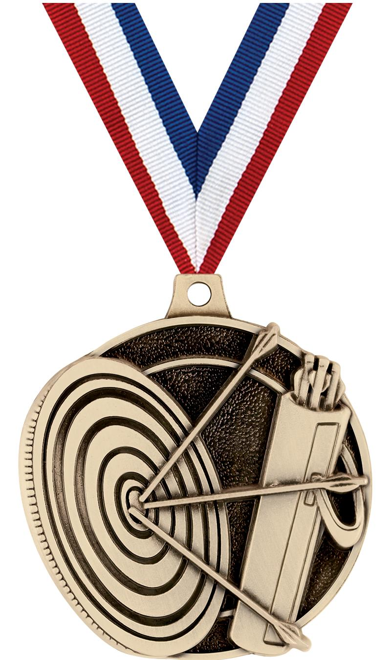 "2"" 3D ARCHERY MEDAL GOLD"