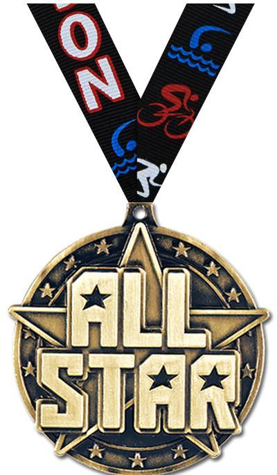 """2"""" 3D ALL STAR - MEDAL GOLD"""