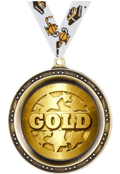 """2.5""""LEGEND BLANK MEDAL GOLD"""