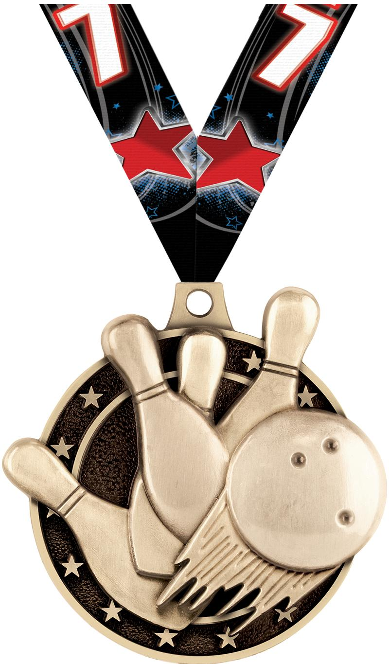 """2"""" Bowling Medals"""