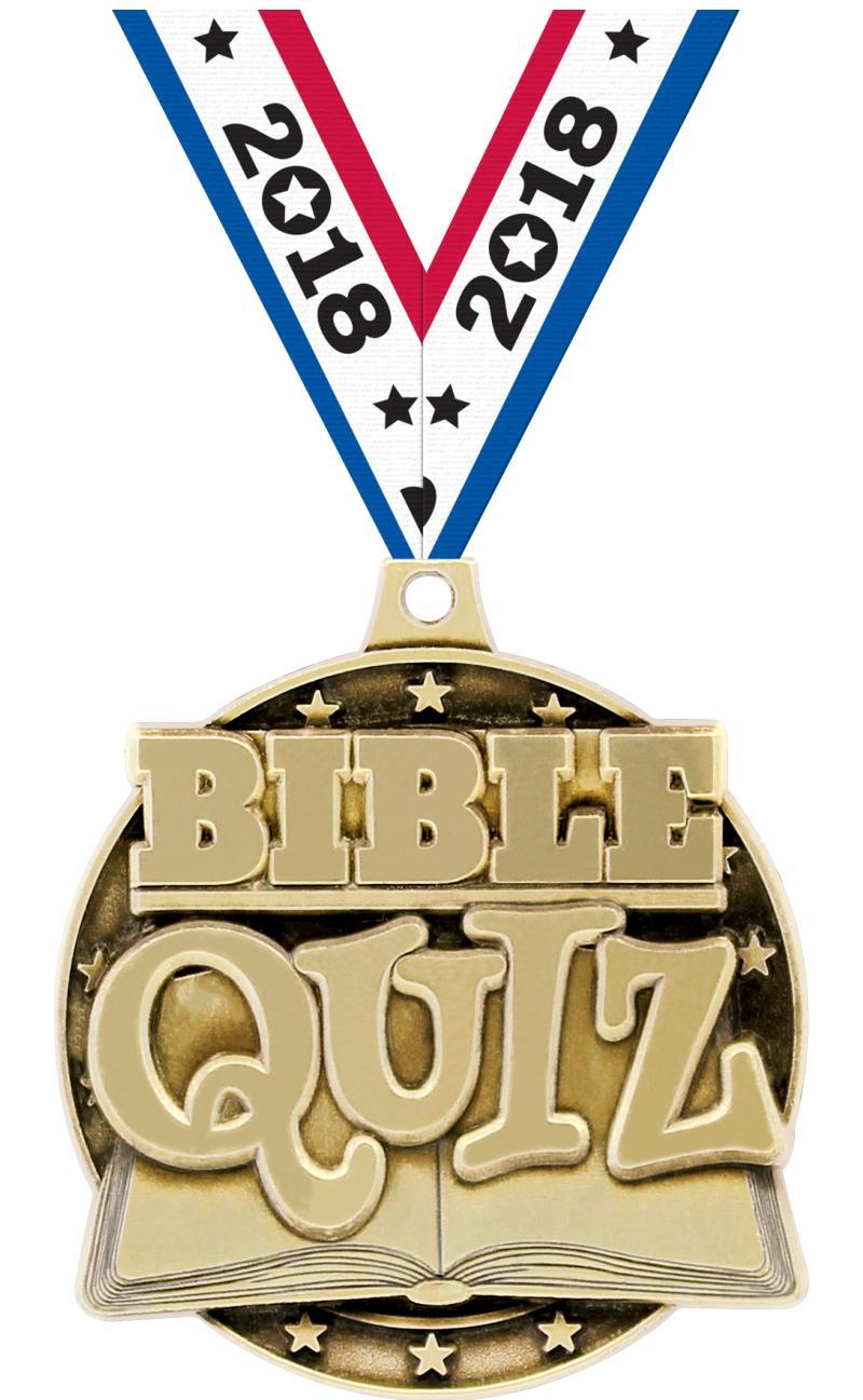 "2"" 3D BIBLE QUIZ GOLD"