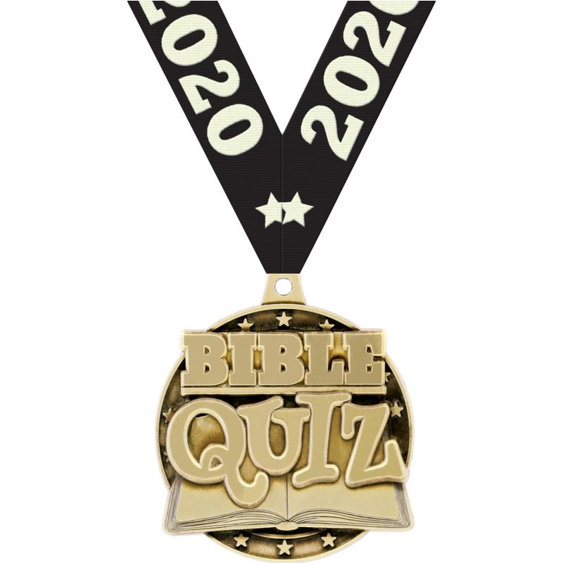 "2"" 3D BIBLE QUIZ GOLD"