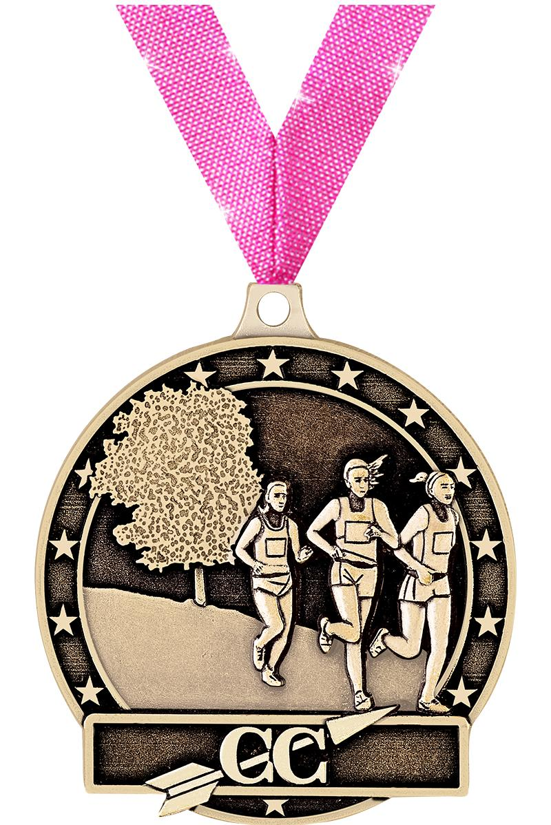 """2"""" 3D FEMALE CROSS COUNTRY GLD"""