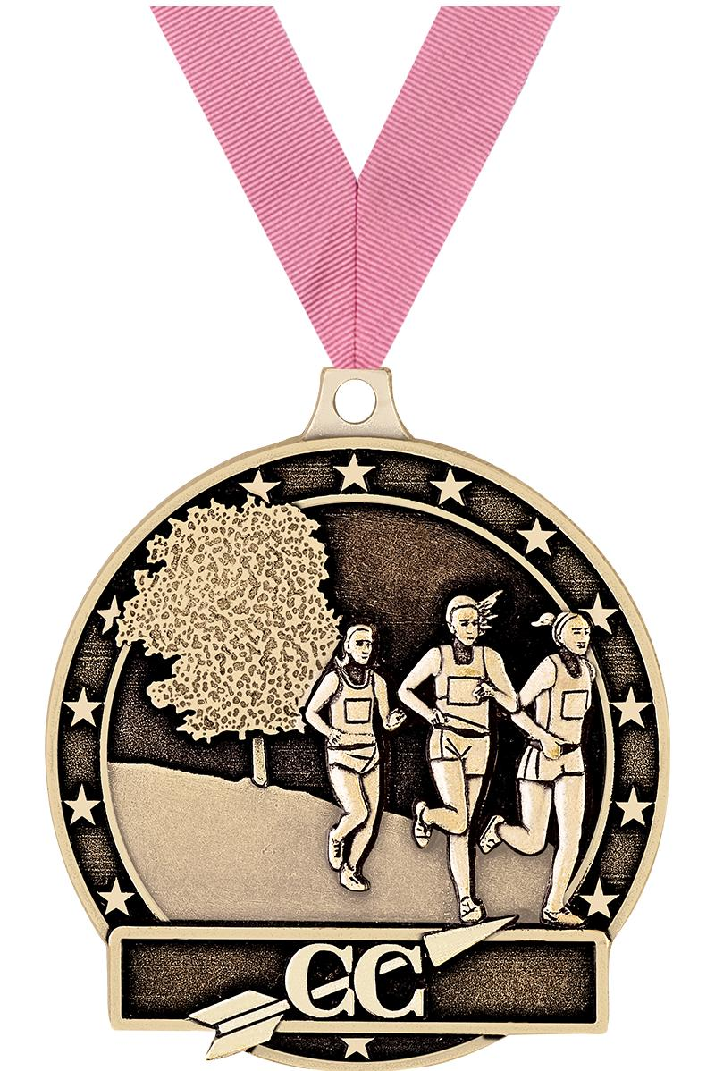 "2"" Female Cross Country Medals"