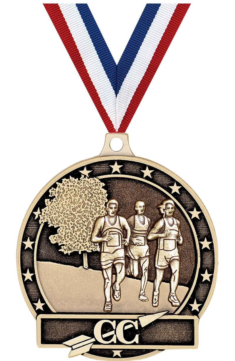 "2"" 3D CROSS COUNTRY-GOLD MEDAL"
