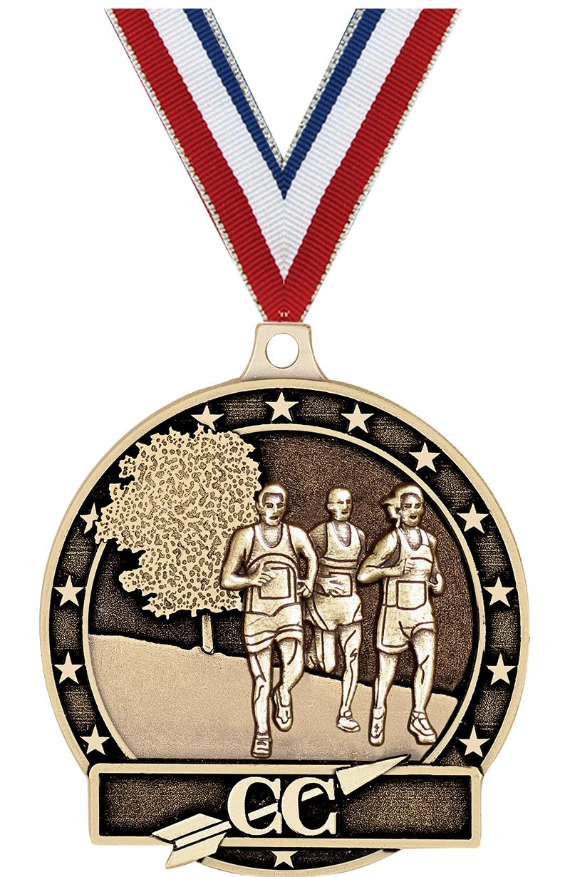 """2"""" Male Cross Country Medals"""