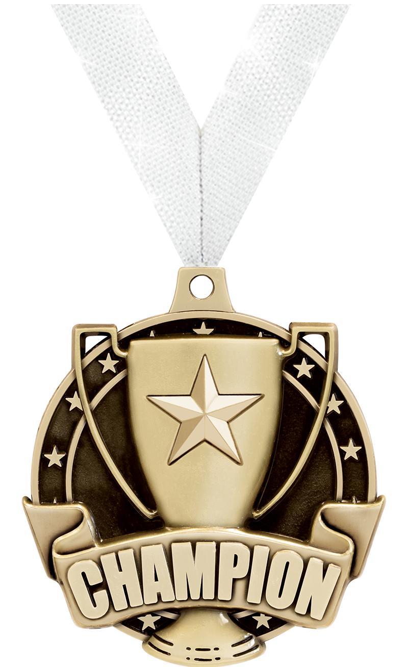 "2"" 3D CHAMPION - MEDAL GOLD"
