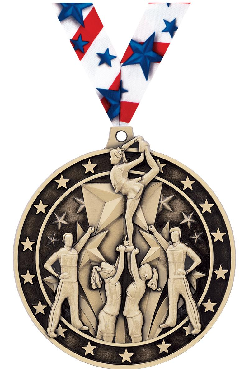 """2"""" All Star Cheer Medals"""