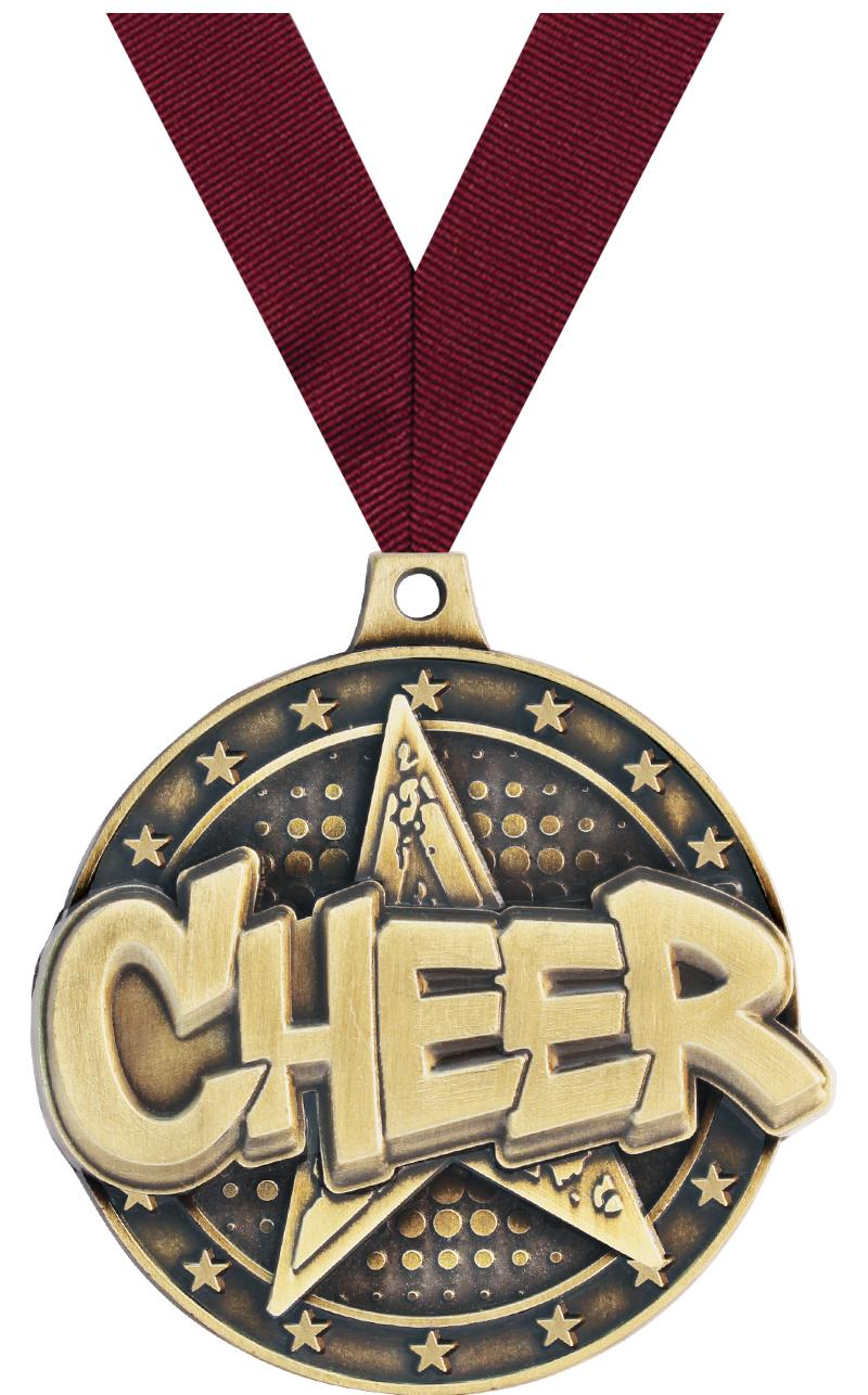 """2"""" Cheer Star Medals"""