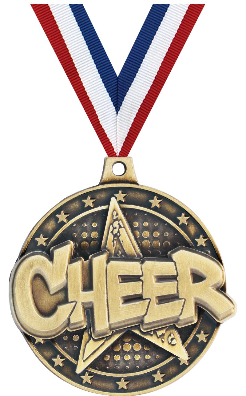 "2"" Cheer Star Medals"