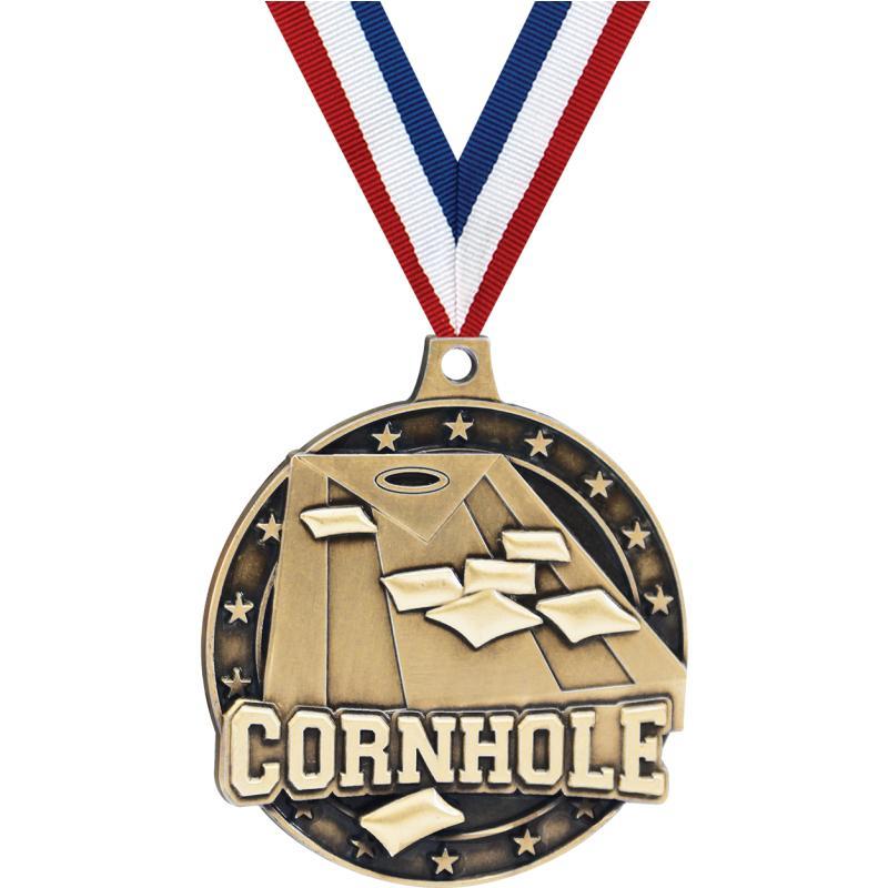 "2""3D CORNHOLE GOLD MEDAL"