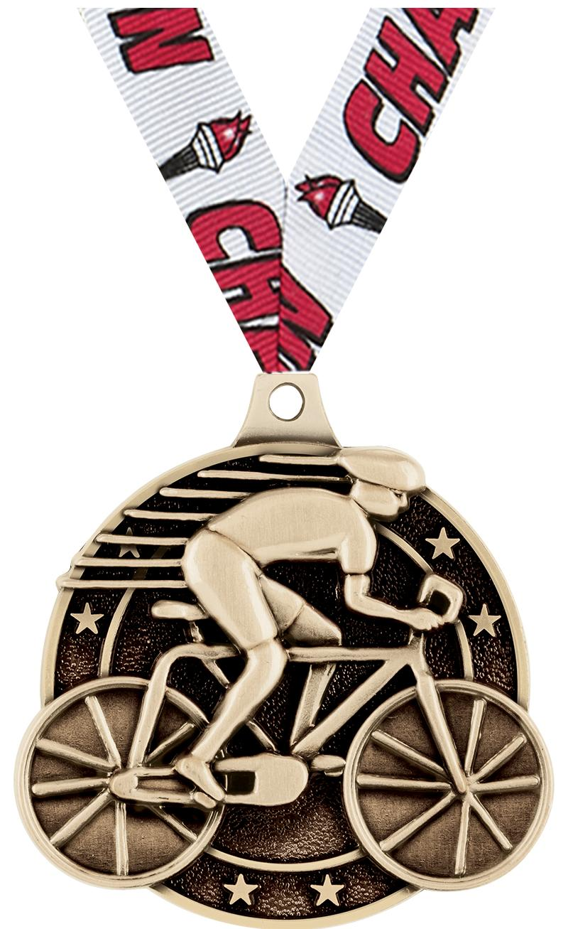 """2"""" Cycling Medals"""