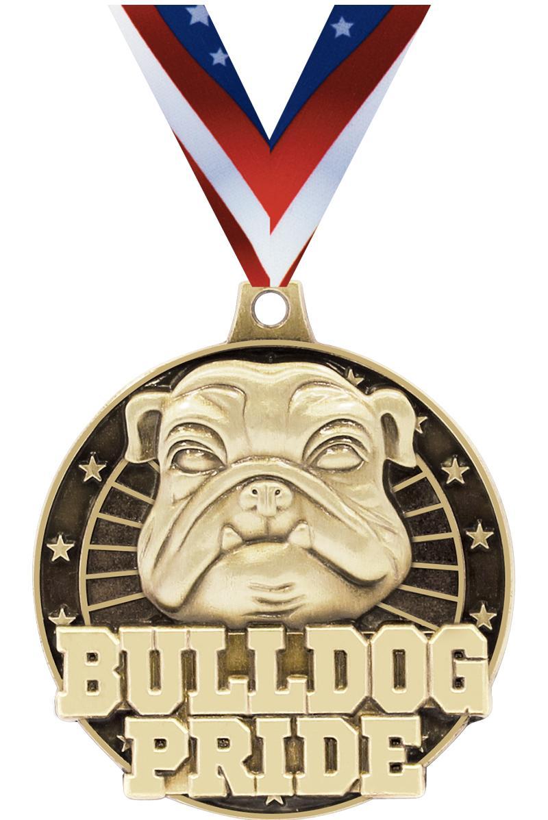 """2"""" 3D Bulldog Pride Medals"""