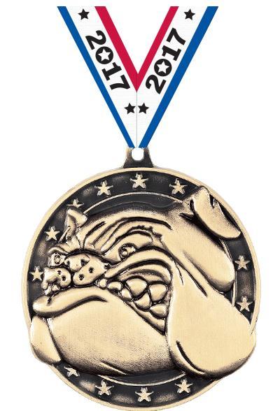 "2"" Bulldog Medal"