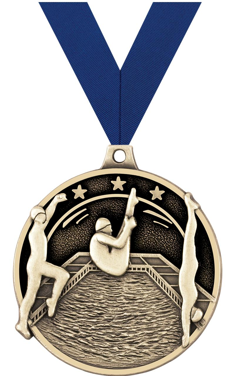 "2"" 3D DIVING MEDAL GOLD"