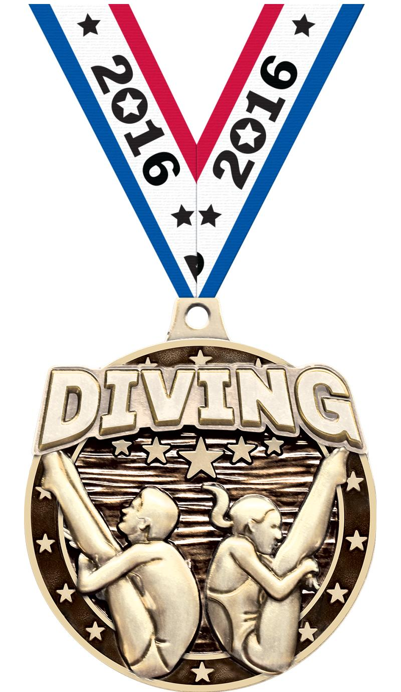 "2""3D DIVING MALE/FEMALE MDL GD"