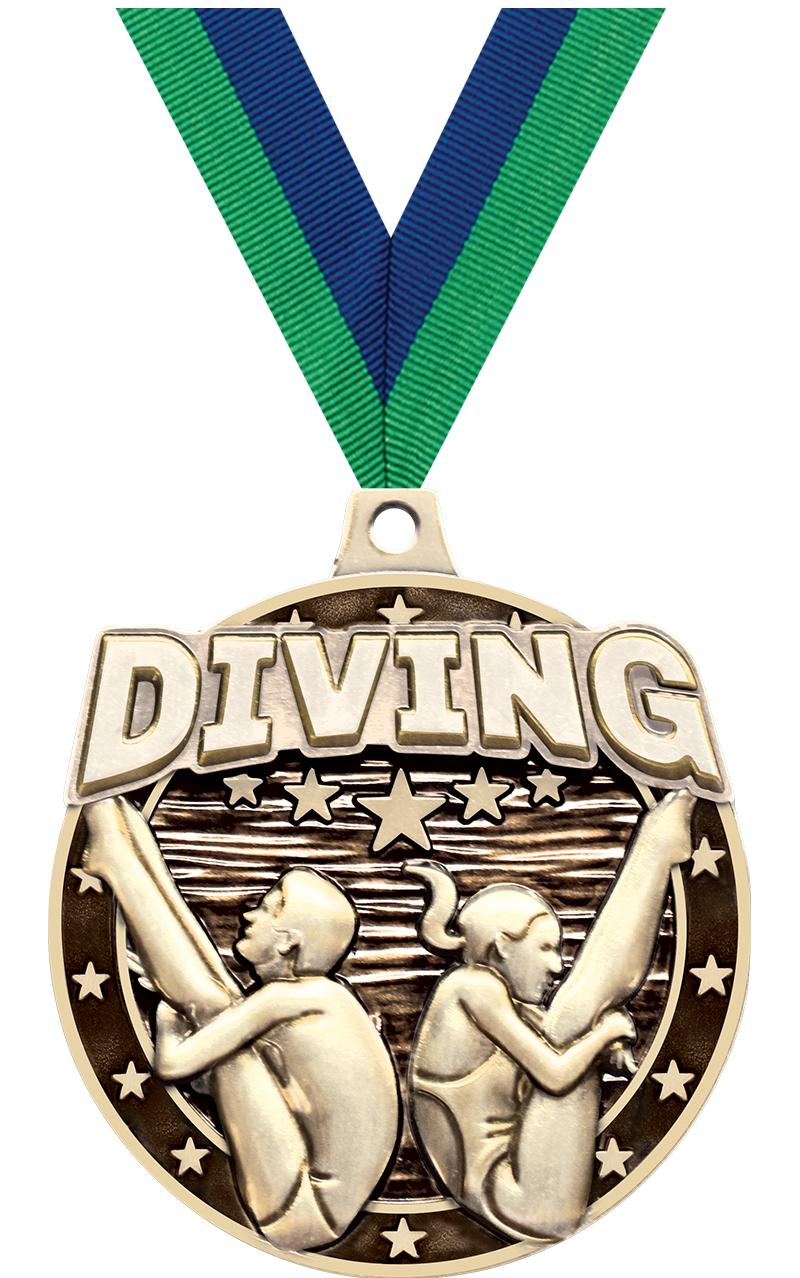 """2""""3D DIVING MALE/FEMALE MDL GD"""