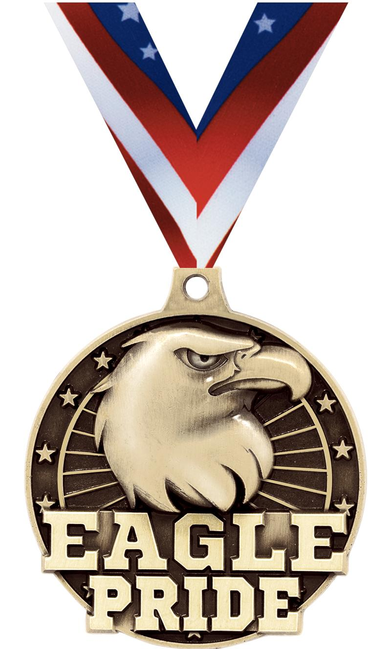"2"" 3D EAGLE PRIDE GOLD MEDAL"