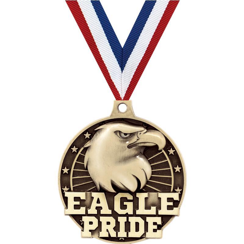 """2"""" 3D EAGLE PRIDE GOLD MEDAL"""