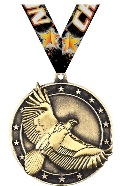 """2"""" 3D EAGLE - MEDAL GOLD"""