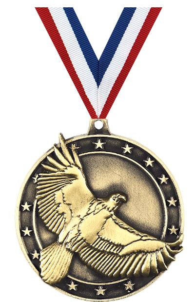 "2"" 3D EAGLE - MEDAL GOLD"