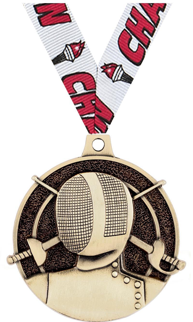 "2"" Fencing Medals"