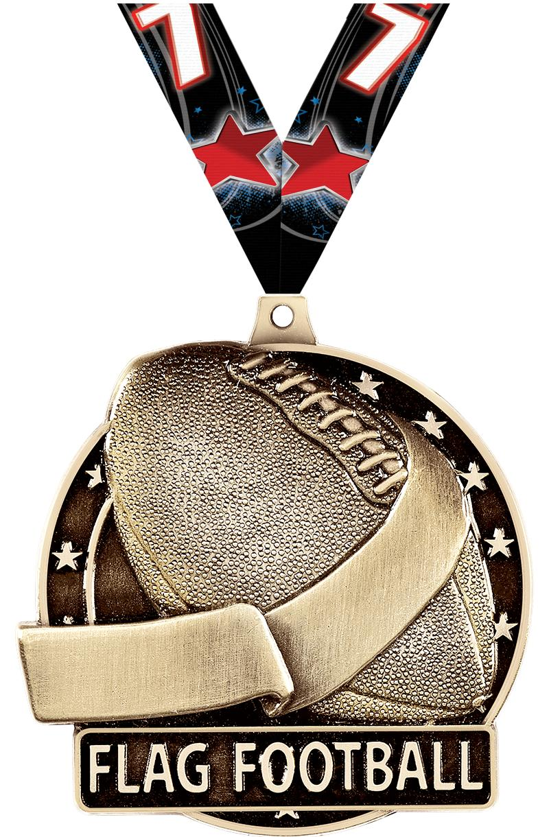 "2"" Flag Football Medals"