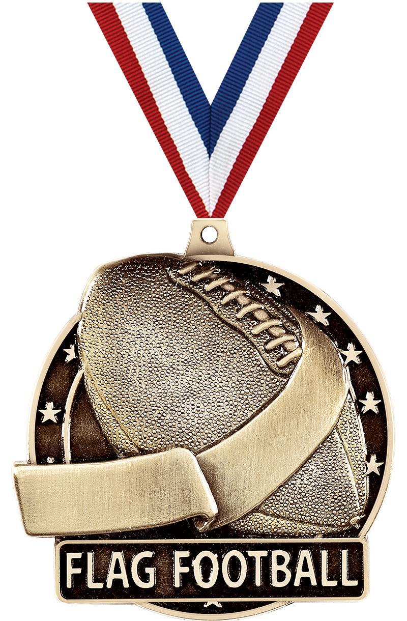 "2"" Flag Football Medals"