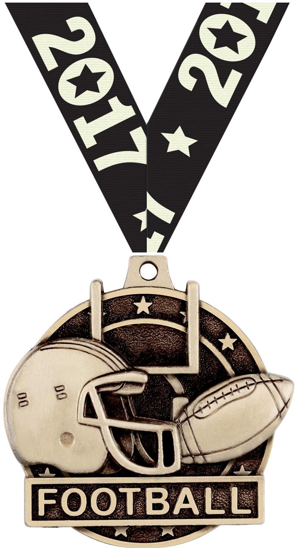 "2"" Football Medals"